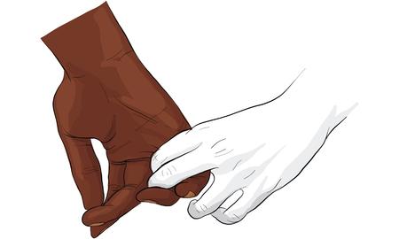 hand met hand bij elkaar