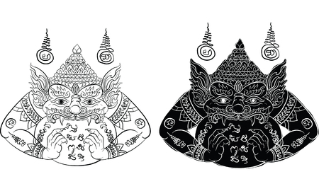 thai traditional tattoo, Lord Rahu