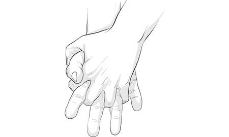Hand actie vector Vector Illustratie