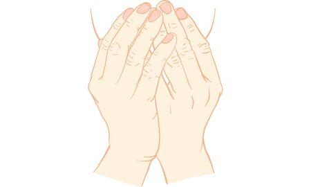Hand action. Illustration