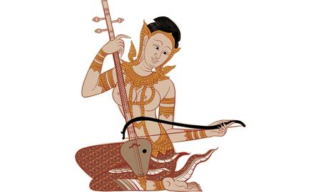 thai traditional panting, vector Illustration