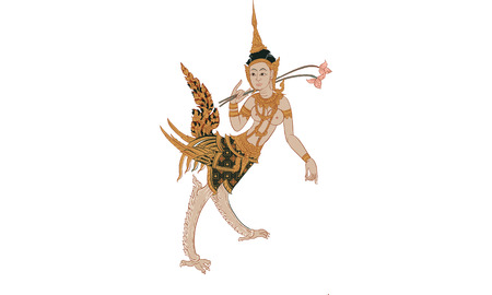 Thai traditional painting, Vector illustration.