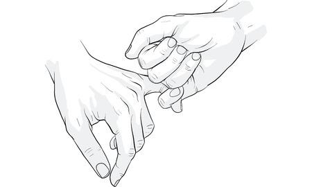 hand holding little finger vector
