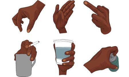 finger signal, hand signal  vector Vectores
