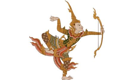 Monkey. Thai traditional tattoo