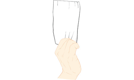 hand holding tissue paper vector 스톡 콘텐츠 - 106549996