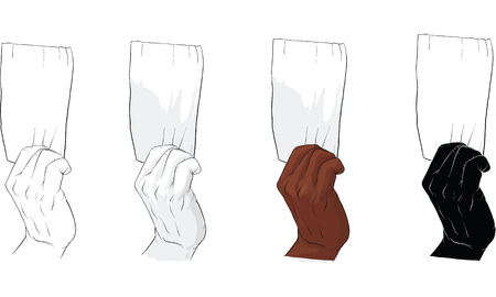 hand holding tissue paper vector