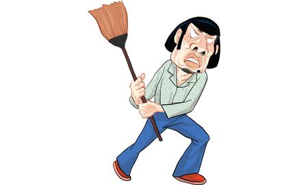 man action cartoon, vector Illustration