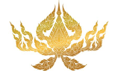 Thai tradition wallpaper, decorate, vector