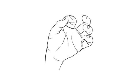 hand action drawing vector, hand activity