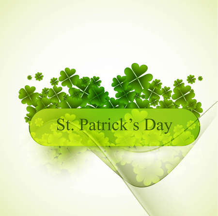 new stylish green st patrick Vector