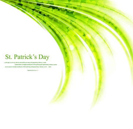 Green clover holiday border, st Patrick Stock Vector - 17421906