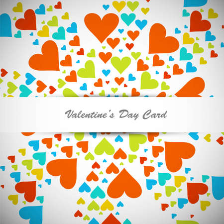 Beautiful valentines day with colorful hearts card illustration Stock Vector - 17421930