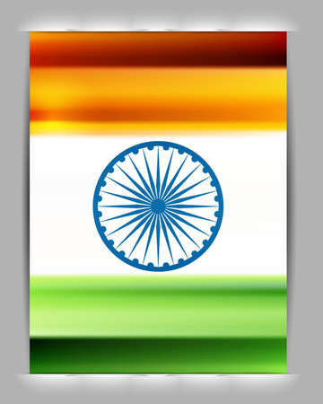 Indian flag shiny colorful design vector Stock Vector - 17473046