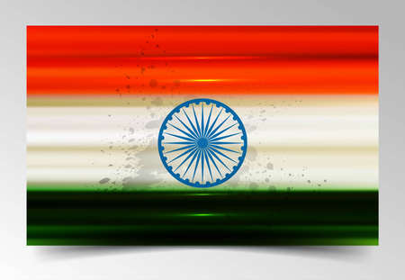 Fantastic indian flag tricolor vector Stock Vector - 17473051