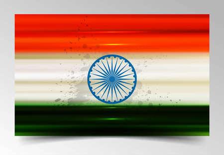 Fantastic indian flag tricolor vector Stock Vector - 17473051