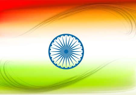 stylish indian flag colorful design illustration Stock Vector - 17473053