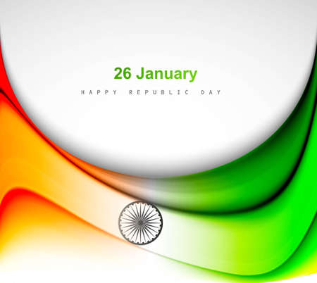 Indian flag background with wave fantastic design Stock Vector - 17473078