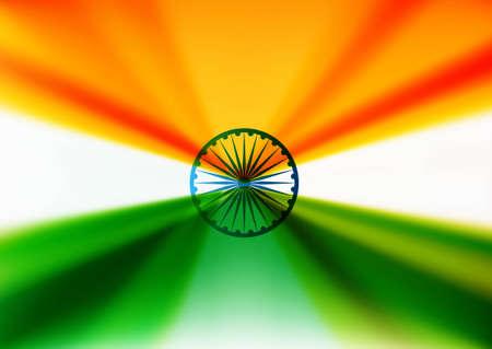indian flag stylish design Vector