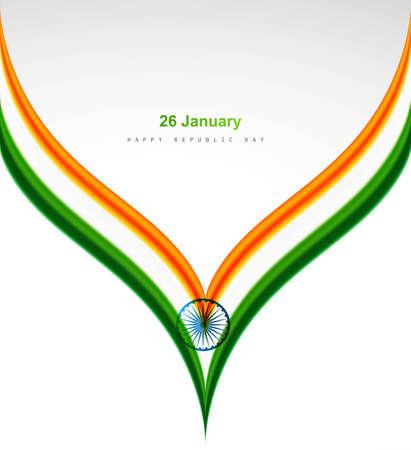 agosto: astratto bandiera indiano concetto creativo onda sfondo bianco