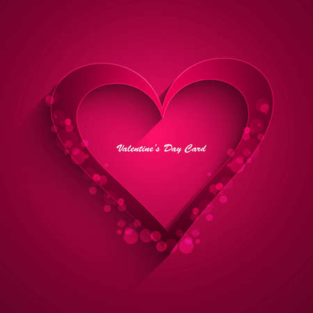Heart colorful shape shiny Valentine day background Vector Stock Vector - 17548601