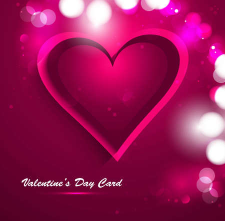 Beautiful Valentine's Day card celebration vector Stock Vector - 17548603