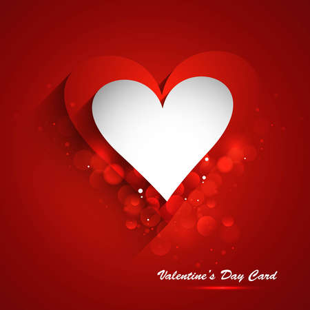 Beautiful Valentine's Day card celebration red colorful background vector Stock Vector - 17548600