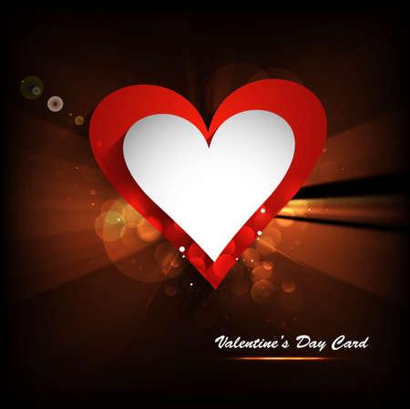 Beautiful shiny hearts Valentine's day wave vector illustration Stock Vector - 17548610