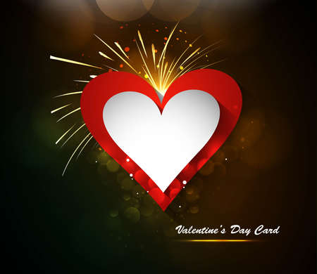Valentin`s Day card celebration Vector colorful background Stock Vector - 17548602