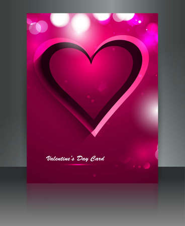 Beautiful Valentines Day with colorful brochure hearts card design Stock Vector - 17548613