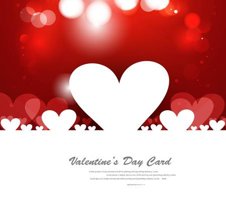 Red Valentines day hearts fantastic love design Stock Vector - 17548630