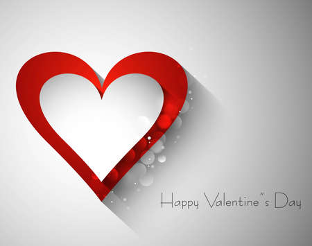 Red and valentines day single heart vector Stock Vector - 17548660