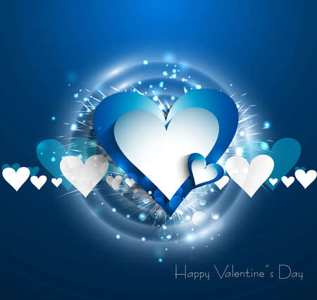 Valentines day blue bright colorful heart vector  Stock Vector - 17548659