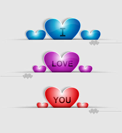 Love greeting card colorful heart vector  Stock Vector - 17548655