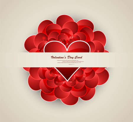 Valentine's day hearts wedding presentation card vector Stock Vector - 17548658