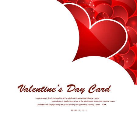 Valentines day red hearts vector illustration Stock Vector - 17548701