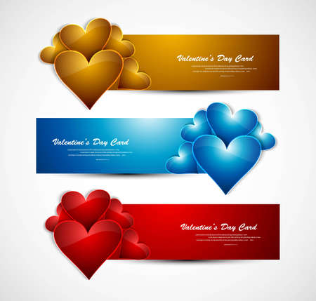 Valentines day bright colorful header whit background vector Vector