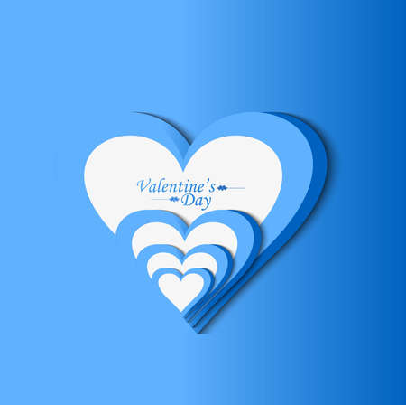 Valentine's day blue colorful heart background Stock Vector - 17548690