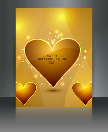 Shiny presentation valentines day brochure colorful card background Stock Vector - 17548719
