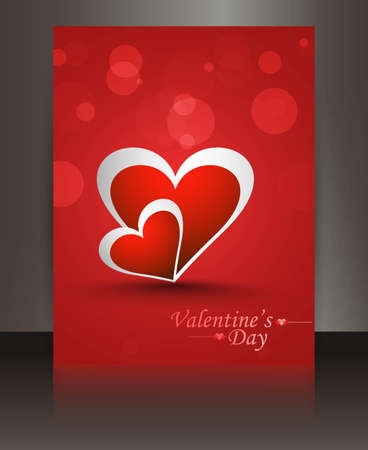 Fantastic valentines day brochure heart red colorful vector Stock Vector - 17548726