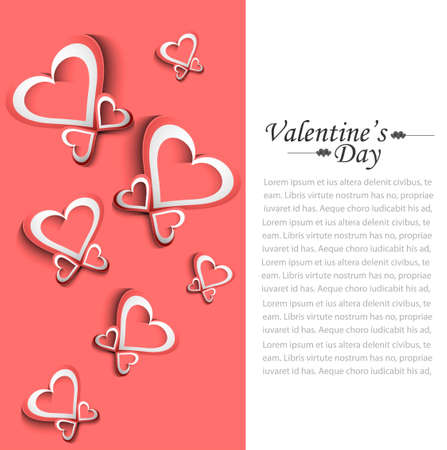 Valentine's Day colorful card background Stock Vector - 17679538