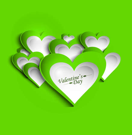 Valentine's Day green colorful presentation card background vector Stock Vector - 17679532