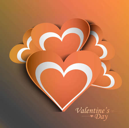Valentine's Day colorful fantastic love card romantic design Stock Vector - 17679537