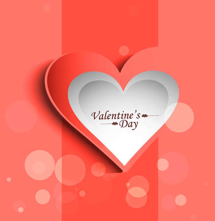 Valentine's Day colorful card congratulation presentation vector Stock Vector - 17679527