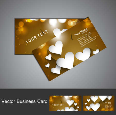 Business card set Valentine's Day colorful heart stylish vector Stock Vector - 17679615