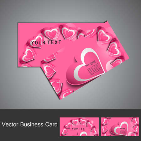 Business card set colorful heart stylish vector Stock Vector - 17679641