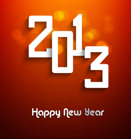 New year stylish 2013 bright colorful shiny vector design Stock Vector - 17679606