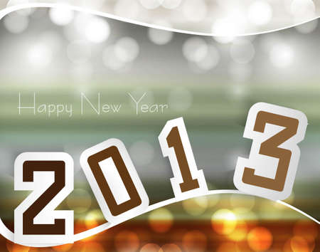 Happy new year 2013 colorful design Stock Vector - 17679608