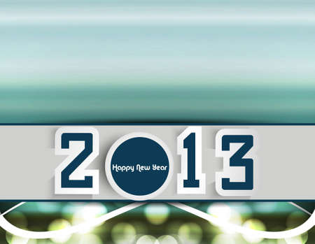2013 new year colorful creative design Stock Vector - 17679614
