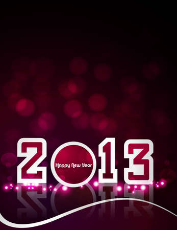 Happy New Year 2013 design card colorful vector Stock Vector - 17679634